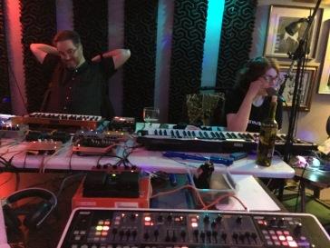 Matt Davignon and Sheila Bosco at UB Radio Show